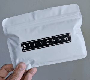 Bluechew Review: Packaging front main pouch