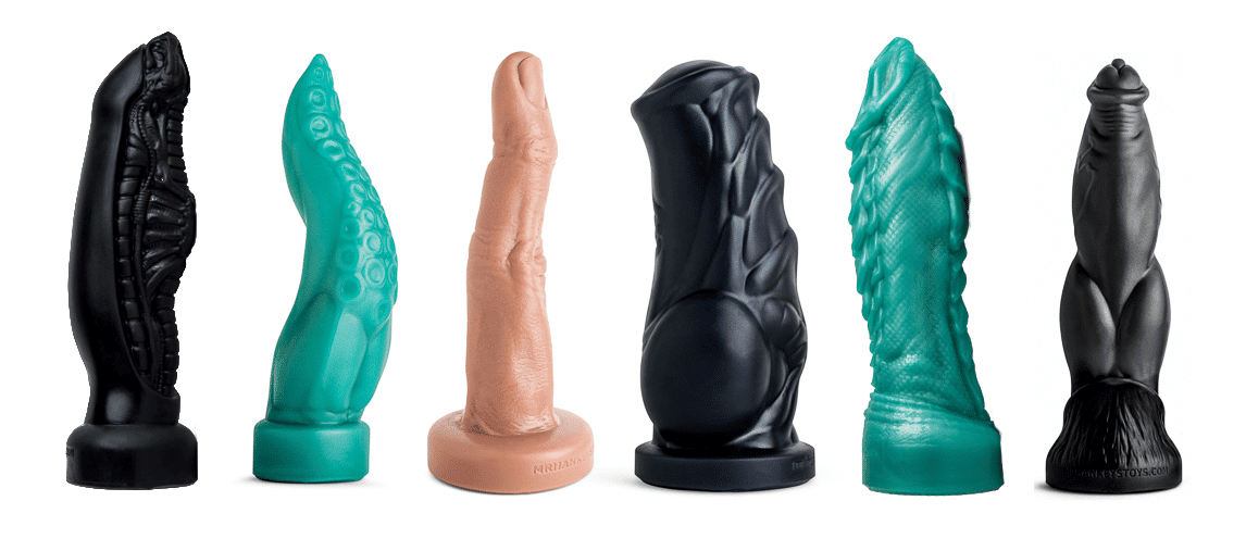 Mr. Hankey's Giant dragon dildo & fantasy sex toys