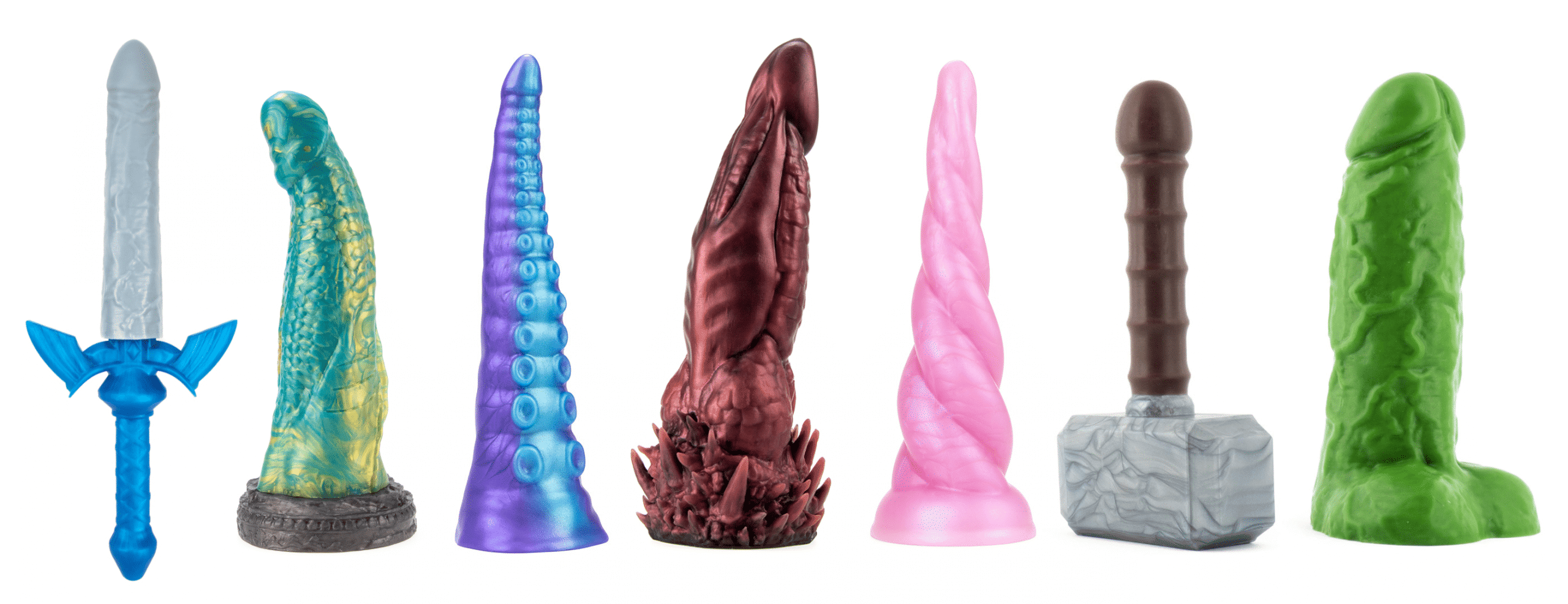 Geeky sex toys fantasy and superhero dildos